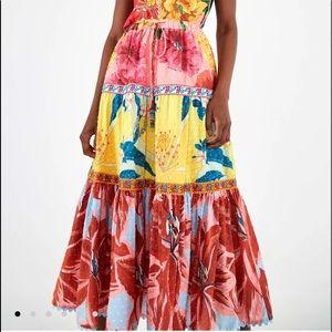 NWT Farm Rio Tropical Garden Maxi Skirt NWT/NEW
